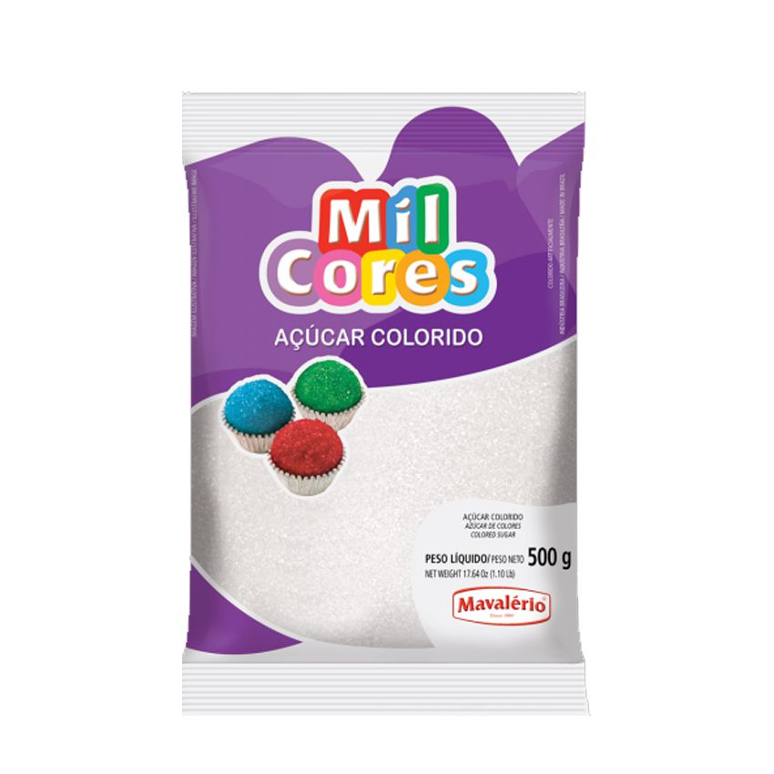 Açúcar Mil Cores Branco 500g Mavalério