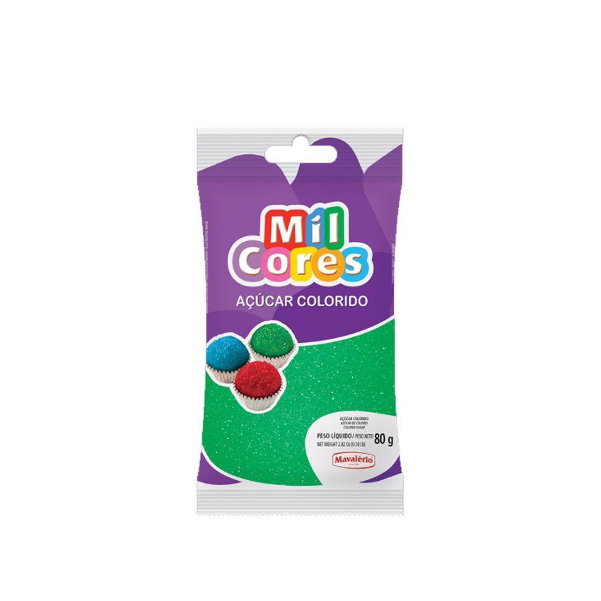 Açúcar Mil Cores Verde 80g Mavalério