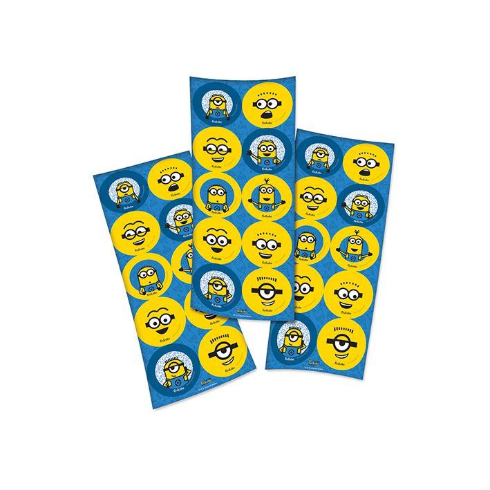 Adesivo Redondo Minions C 30 unid Festcolor