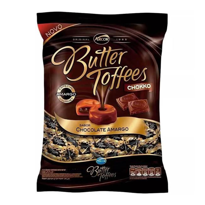 Bala Butter Toffees 500g Chocolate Amargo Arcor
