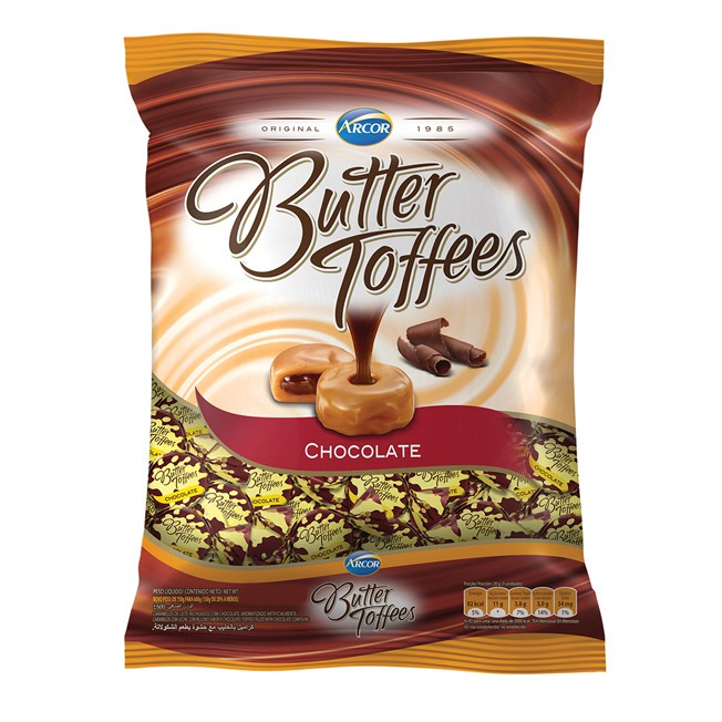 Bala Butter Toffees 500g Chocolate Arcor