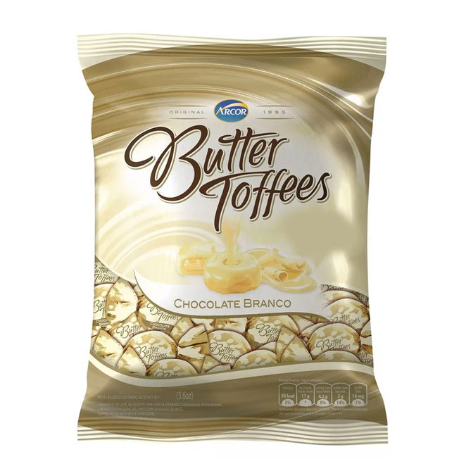 Bala Butter Toffees 500g Chocolate Branco