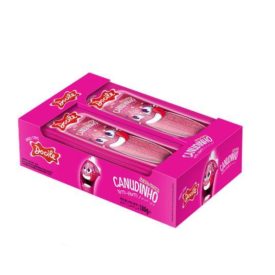 Bala Canudinho Pocket 12 x 15g  Tutti Frutti Ácido Docile