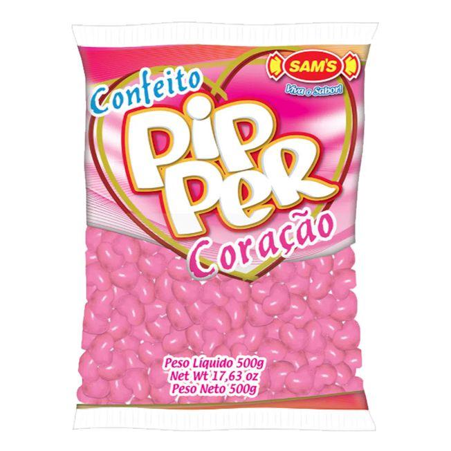 Bala Confeito Pipper 500g Morango Rosa Simas