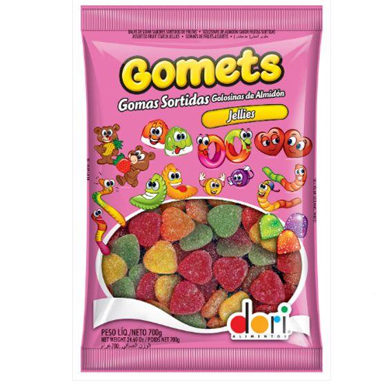 Bala de Goma Gomets Coração de Frutas 700g Dori