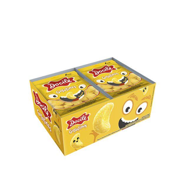 Bala Gelatina Pocket 12 x 15g Banana Docile