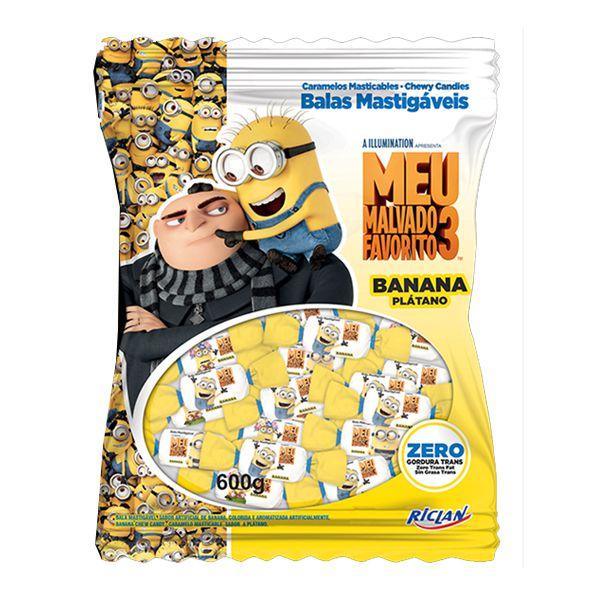 Bala Minions 600g Banana Riclan