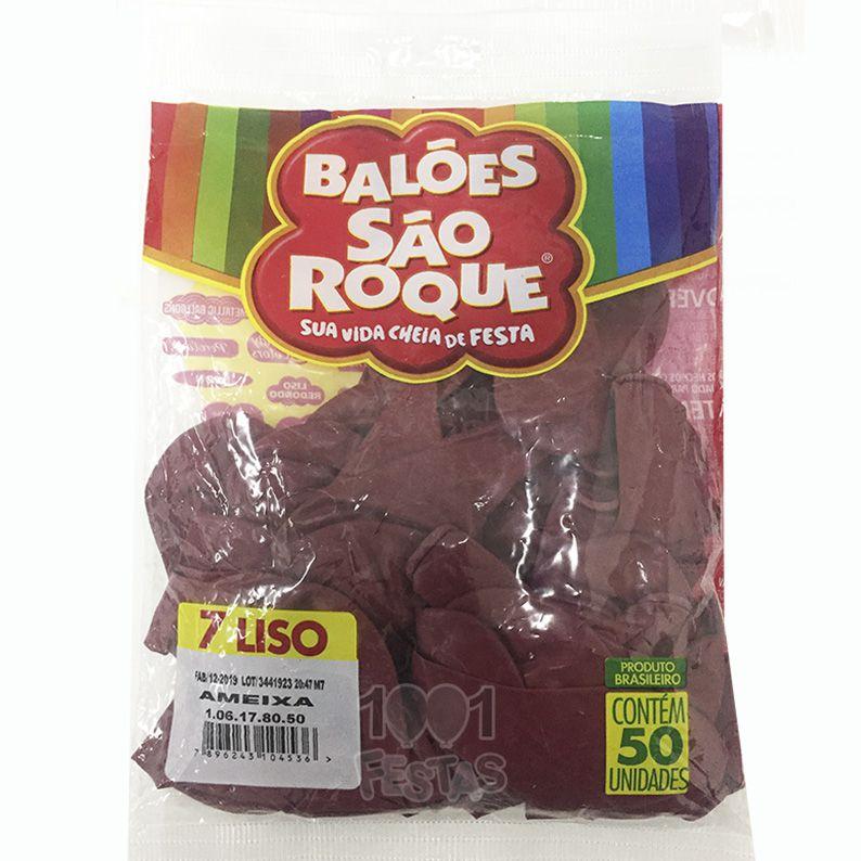 Balão Ameixa N07 50 unid São Roque