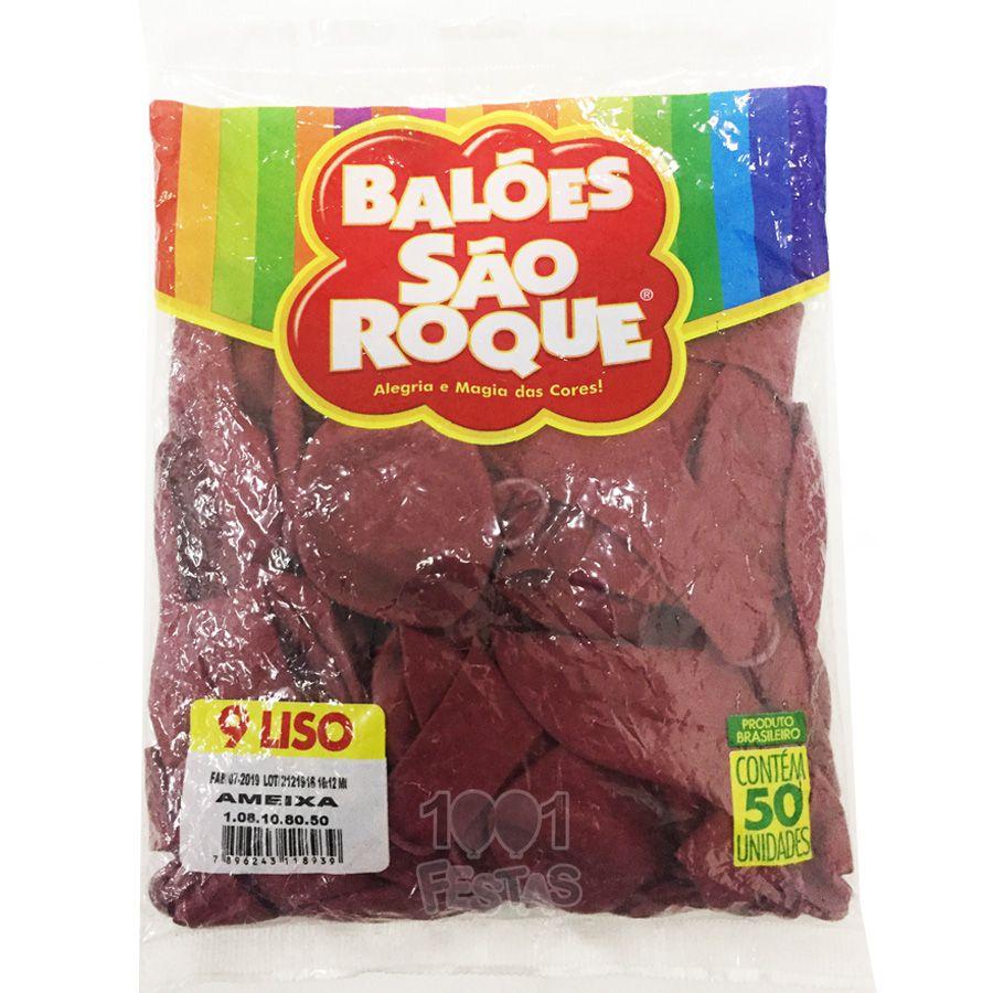 Balão Ameixa N09 50 unid. São Roque