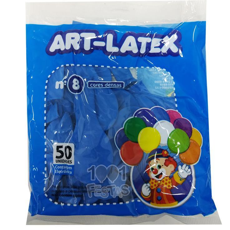 Balão Azul Celeste N08 50 unid Art Latex