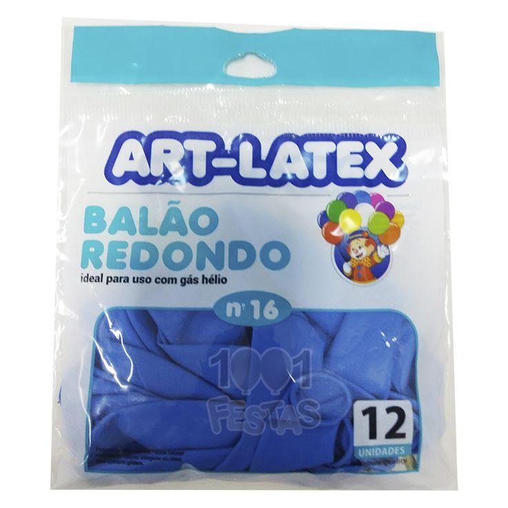 Balão Azul Celeste  N16 12 unid Art Latex