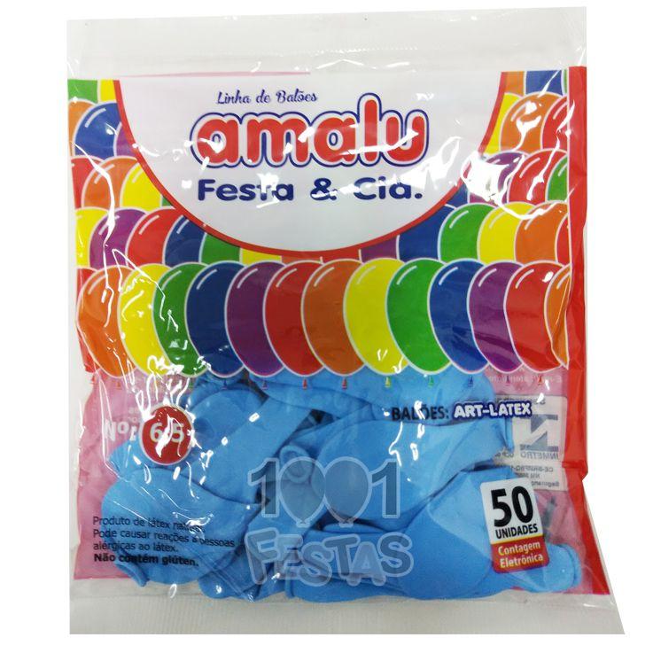 Balão Azul Claro  N6,5 50 unid Amalu