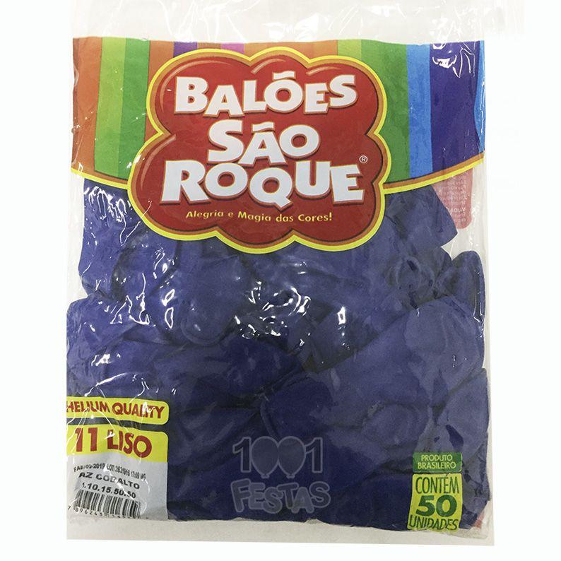 Balão Azul Cobalto N11 50 unid São Roque