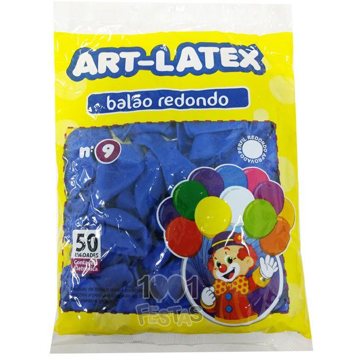 Balão Azul N09 50 unid Art Latex