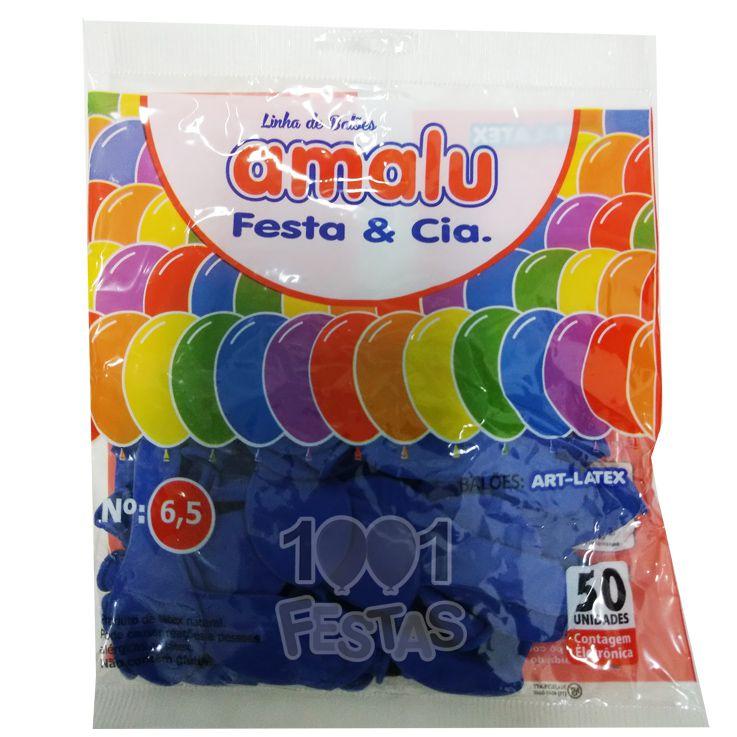 Balão Azul N6,5 50 unid Amalu