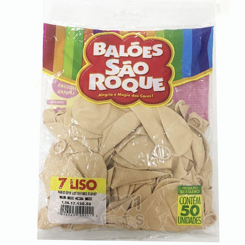 Balão Bege N07 50 unid. São Roque