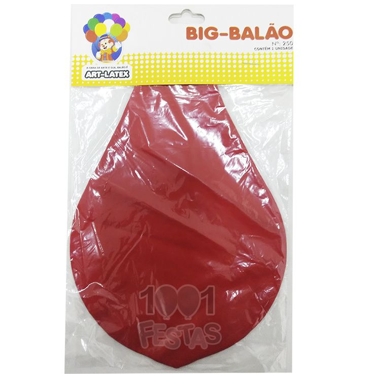 Big Balão N250 Vermelho Rubi Art latex