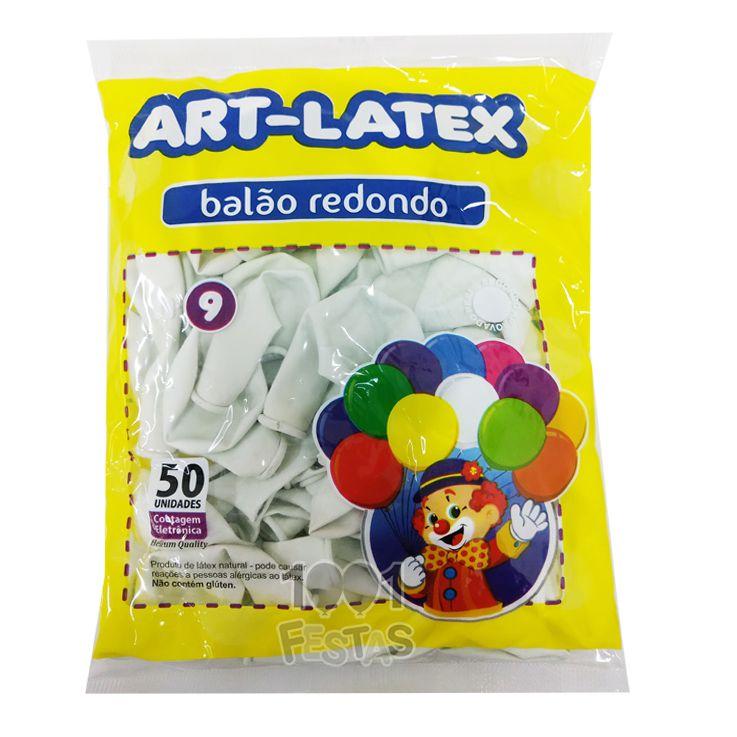 Balão Branco N09 50 unid Art Latex