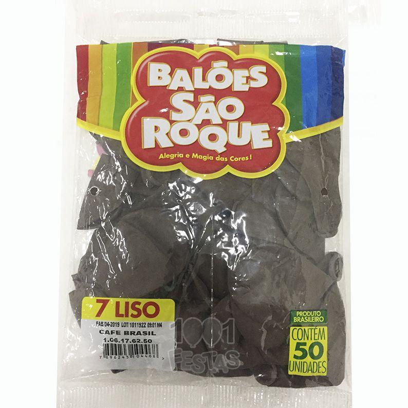Balão Café Brasil N07 50 unid São Roque