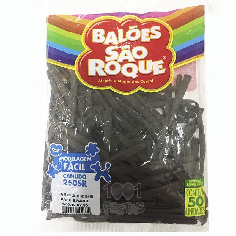 Balão Canudo Café Brasil 50 unid São Roque