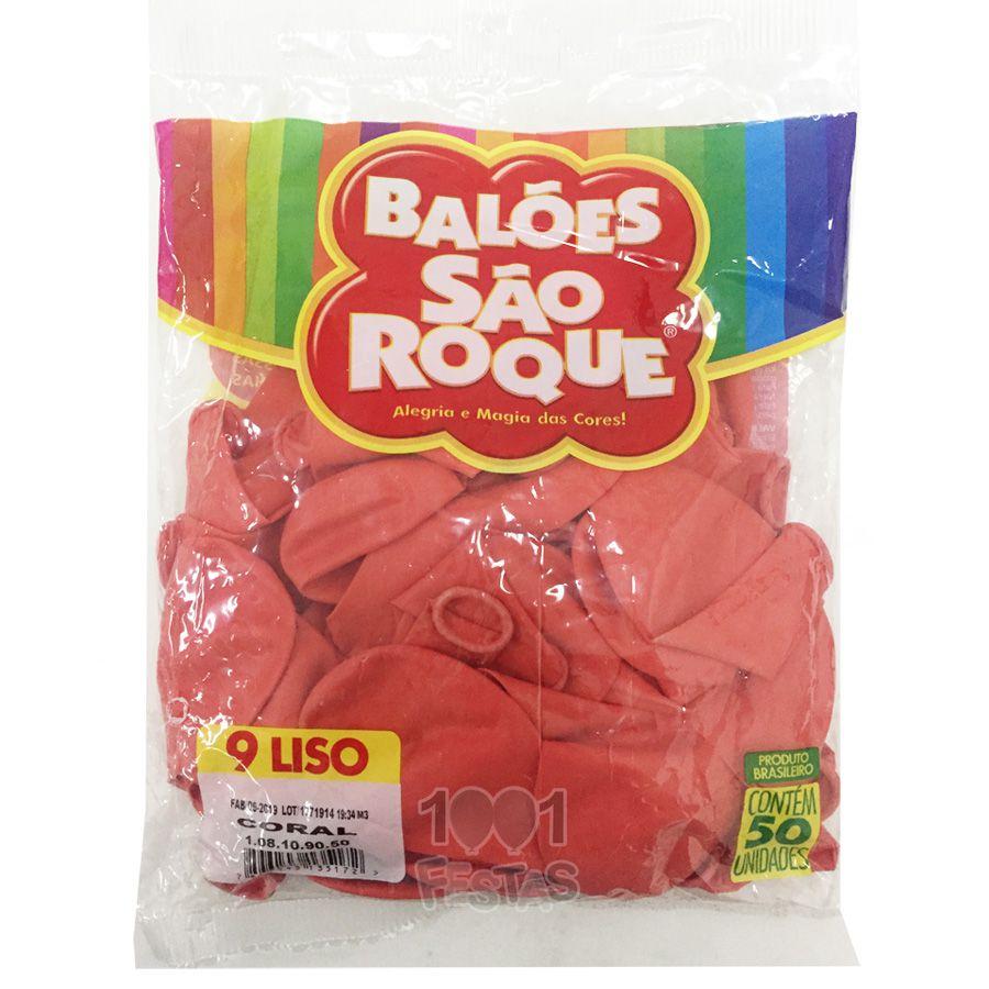 Balão Coral N09 50 unid. São Roque