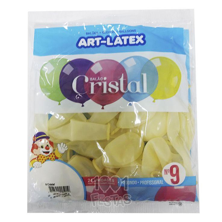 Balão Cristal Cristal N09 24 unid Art Latex