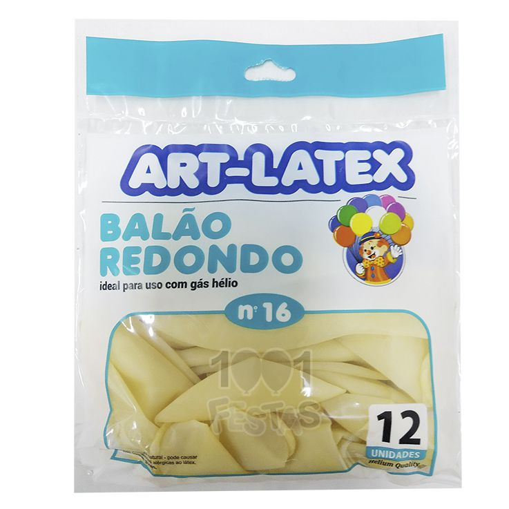 Balão Cristal N16 12 unid Art Latex