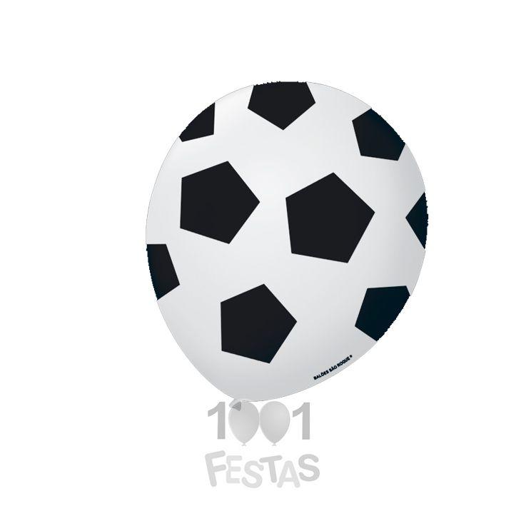 Balão Futebol Sortido N09 25 unid São Roque