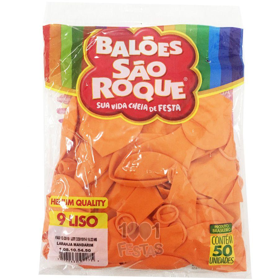 Balão Laranja Madarim N09 50 unid São Roque