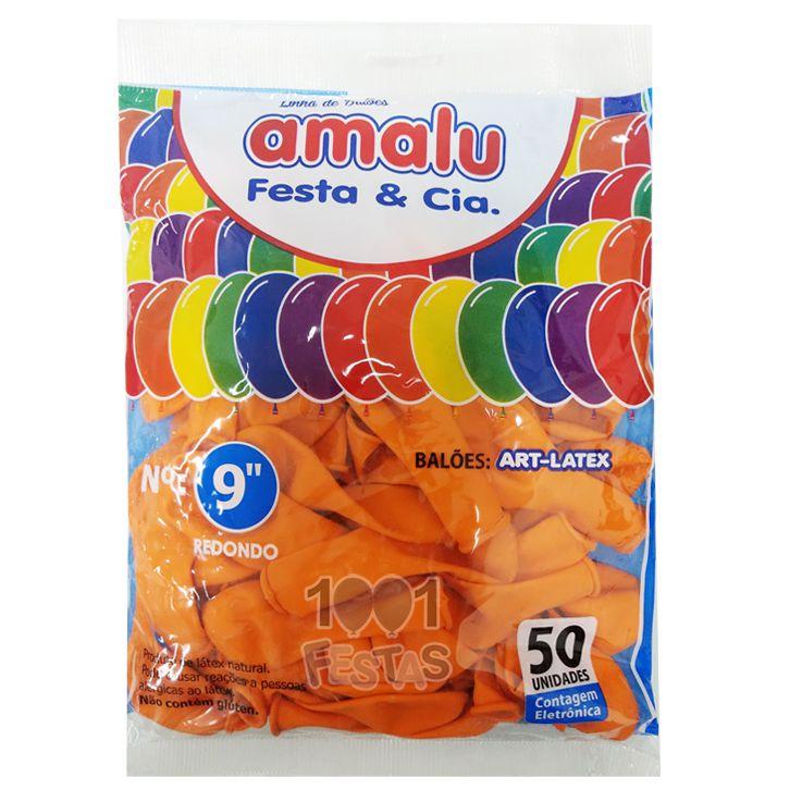 Balão Laranja N09 50 unid Amalu
