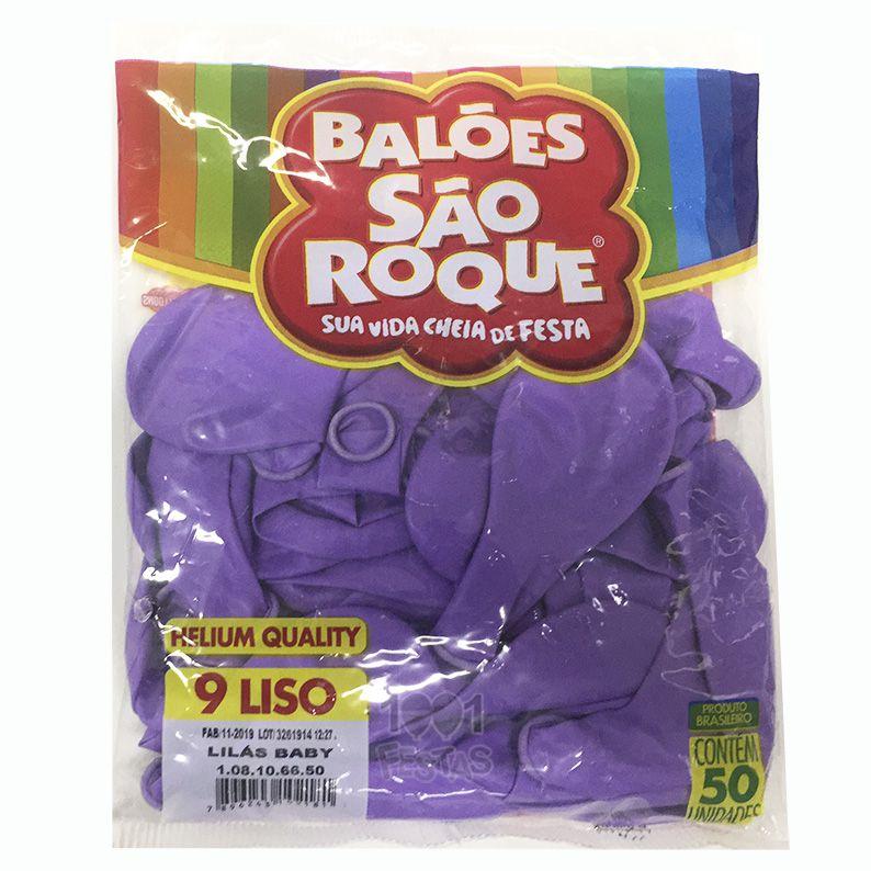 Balão Lilás Bebê N09 50 unid São Roque