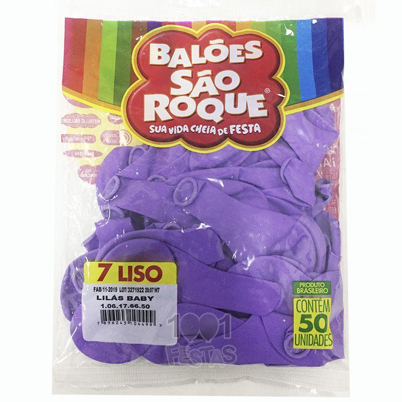 Balão Lilás N07 50 unid São Roque