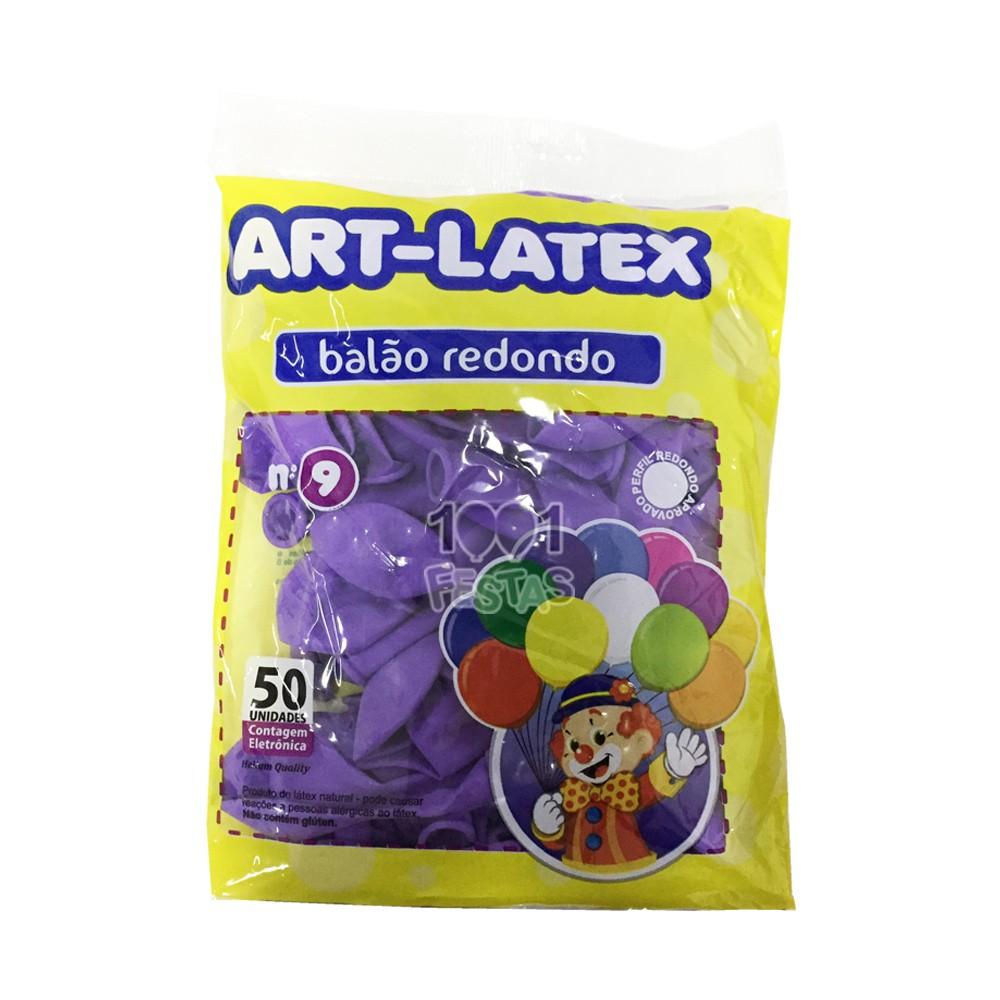 Balão LIlás N09 50 unid Art Latex