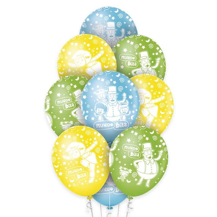 Balão N12 Premium Mundo Bita c/10 unid Regina