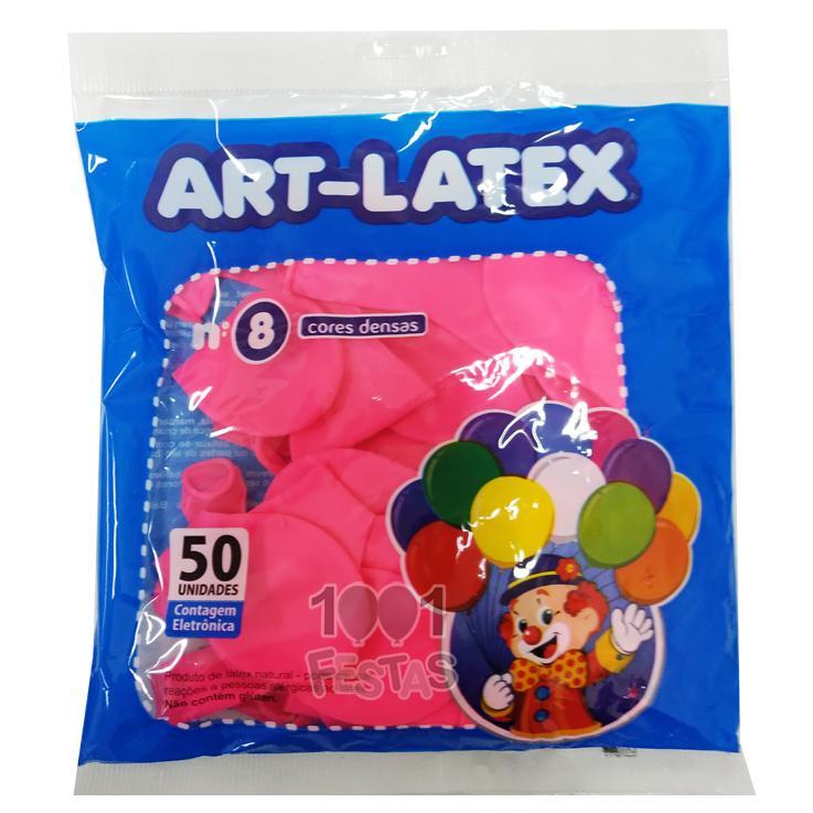 Balão Pink N08 50 unid Art Latex