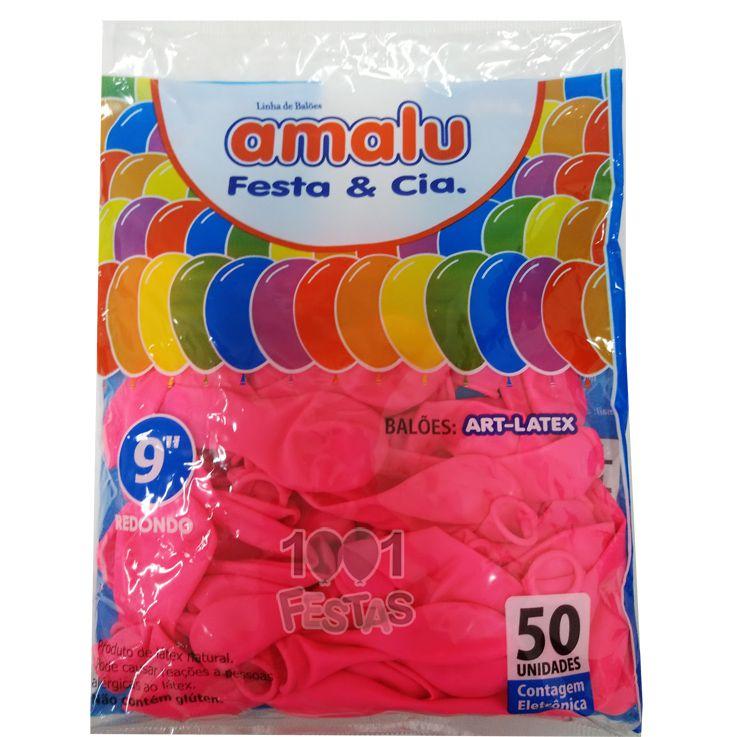 Balão Rosa Pink N09 50 unid Amalu