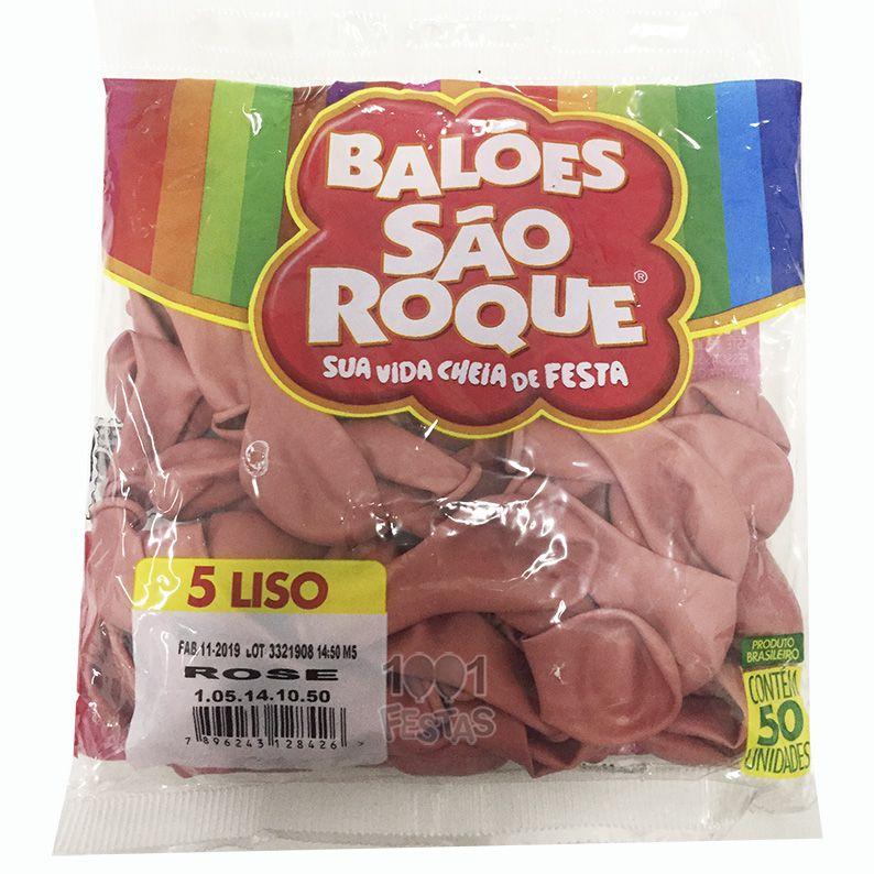 Balão Rose N05 C/50 Unid São Roque