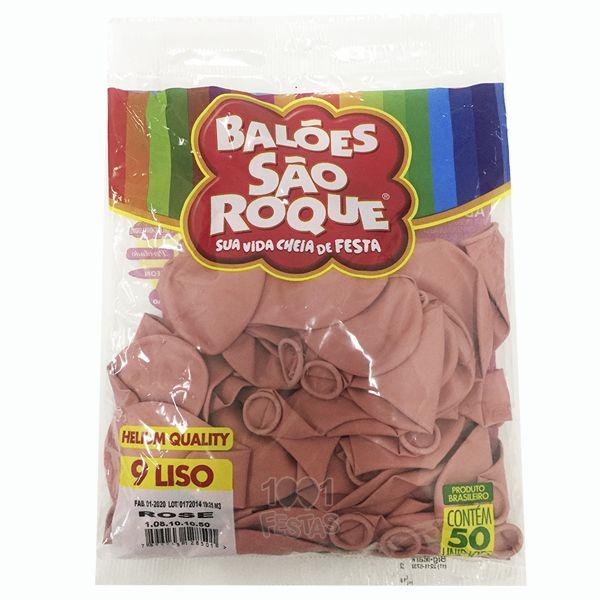 Balão Rose N09 50 unid. São Roque