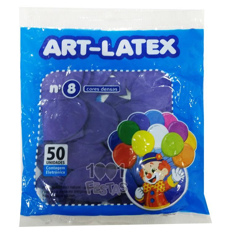 Balão Roxo N08 50 unid Art Latex