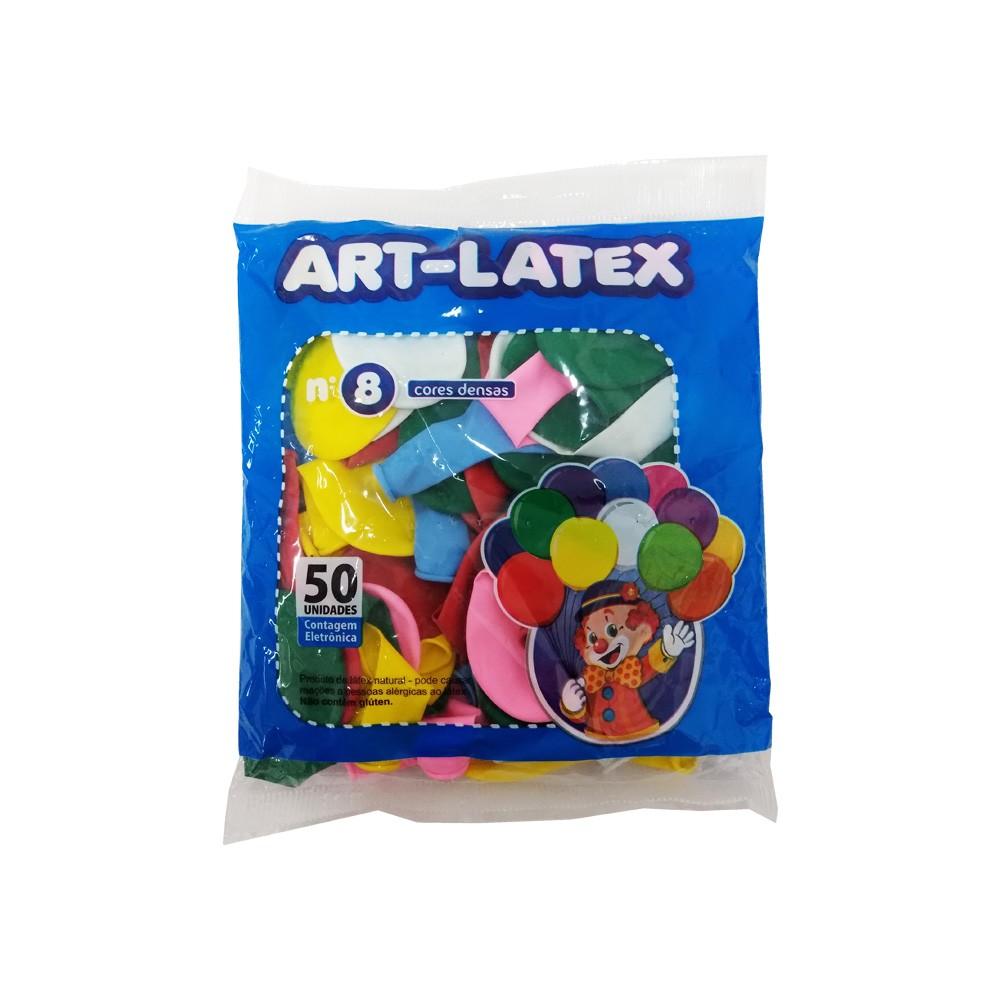 Balão Sortido N08 50 unid Art Latex