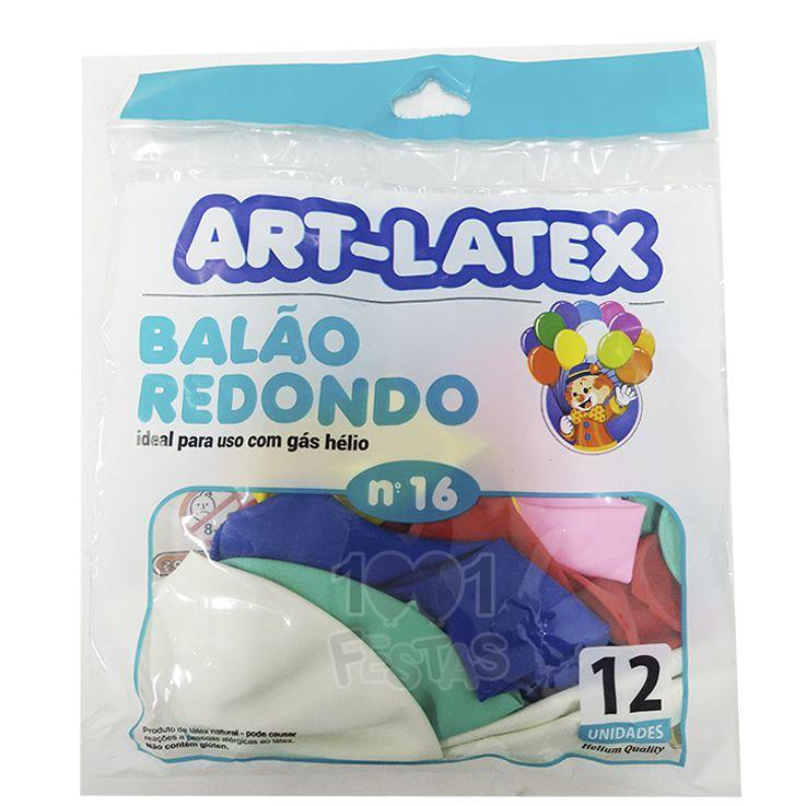 Balão Sortido N16 12 unid Art Latex