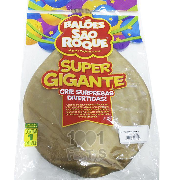 Balão Super Gigante Dourado N350 São Roque
