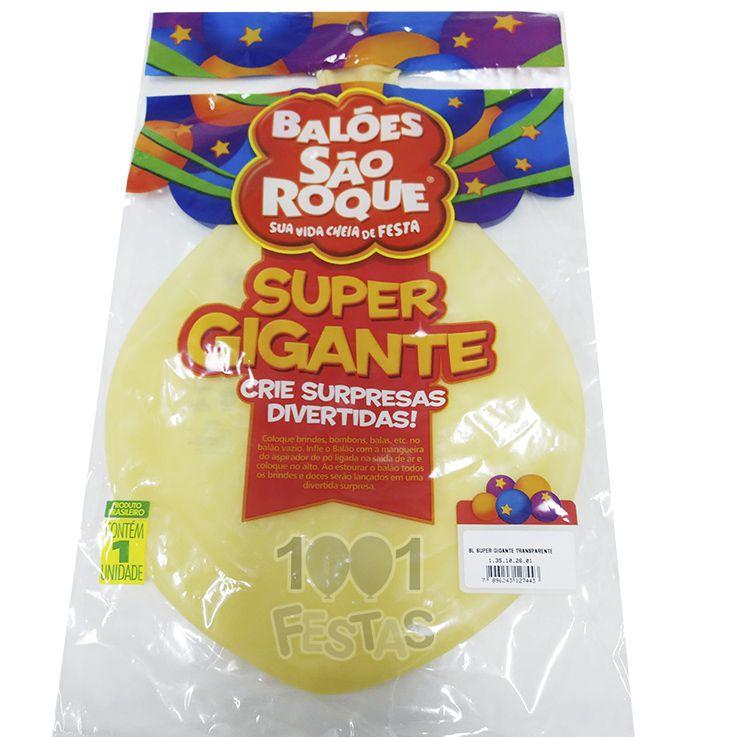 Balão Super Gigante Transparente N350 São Roque