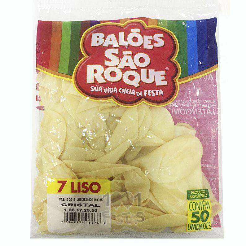 Balão Cristal N07 50 unid São Roque