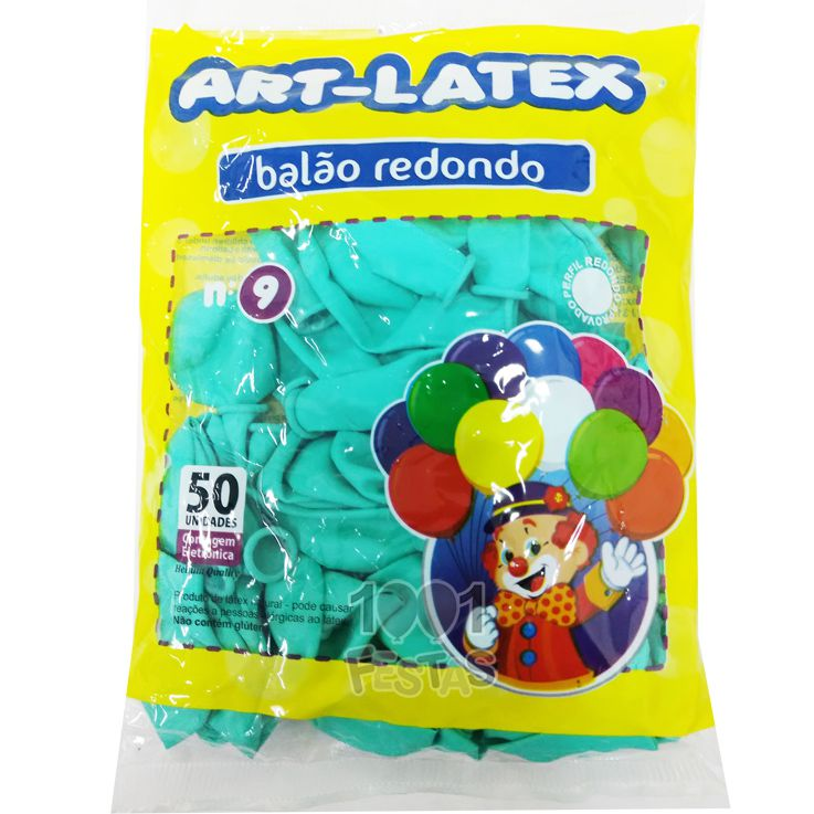 Balão Verde Claro N09 50 unid Art Latex