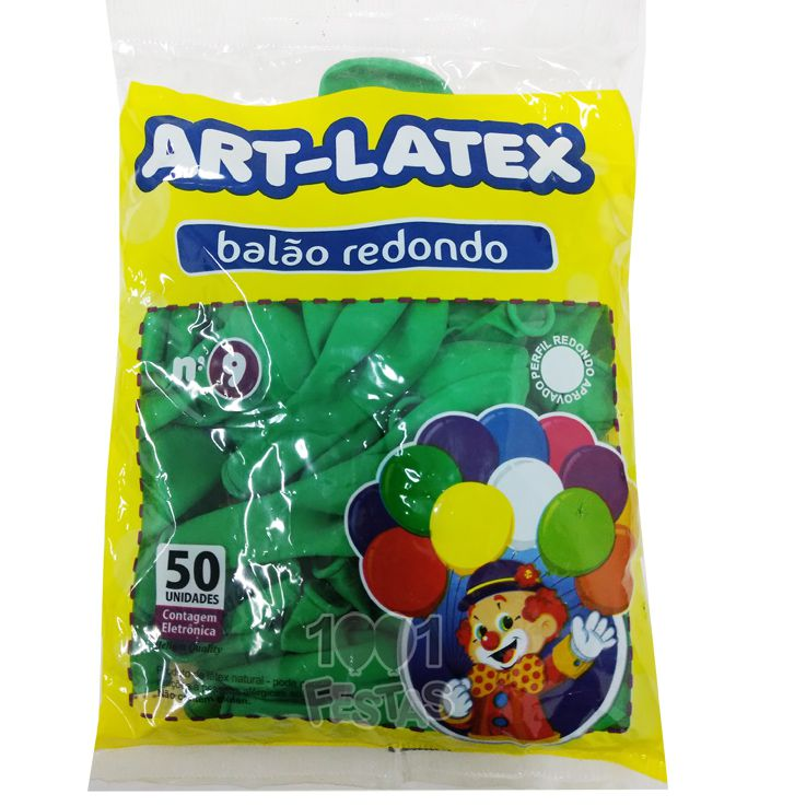 Balão Verde Folha N09 50 unid Art Latex