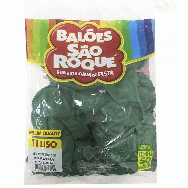 Balão Verde Folha N11 50 unid São Roque