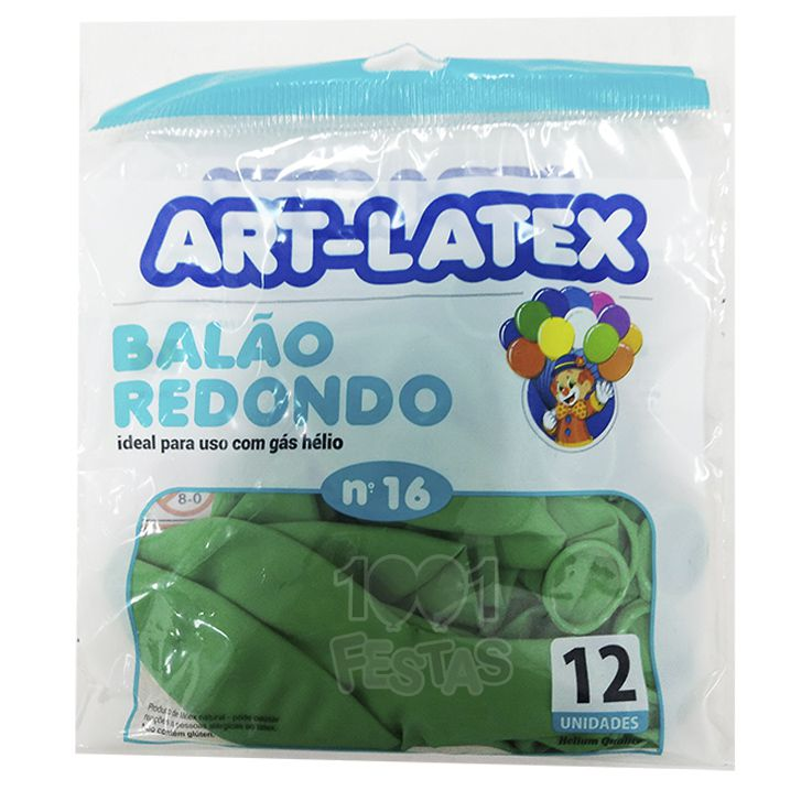 Balão Verde Folha N16 12 unid Art Latex