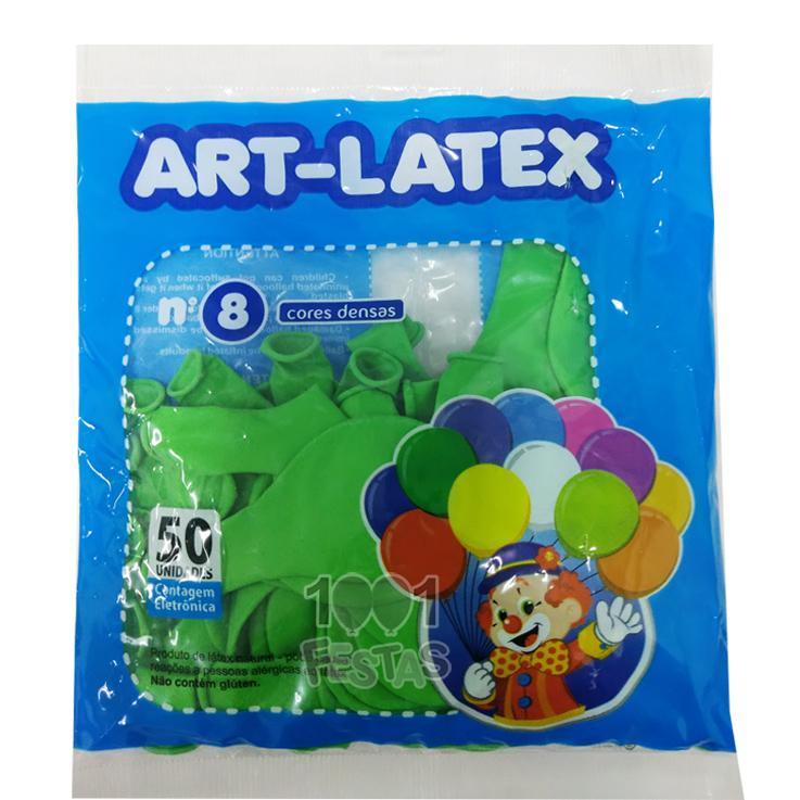 Balão Verde Lima N08 50 unid Art Latex