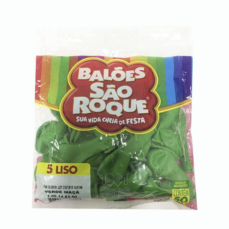 Balão Verde Maçã N05 50 unid São Roque